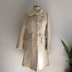 Mackage Classic Wool Ivory Coat Sz M